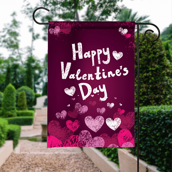 SGF 00100 Valentines Day Garden Flag By Front Porch Garden Flags