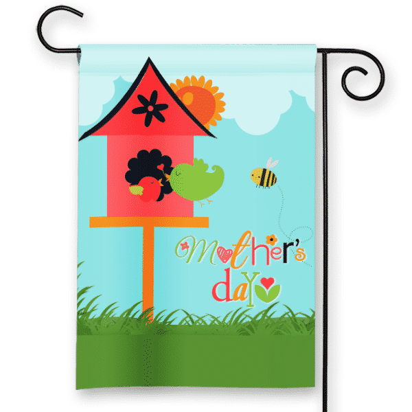 Happy Mothers Day Little Birdies Personalized Garden Flag