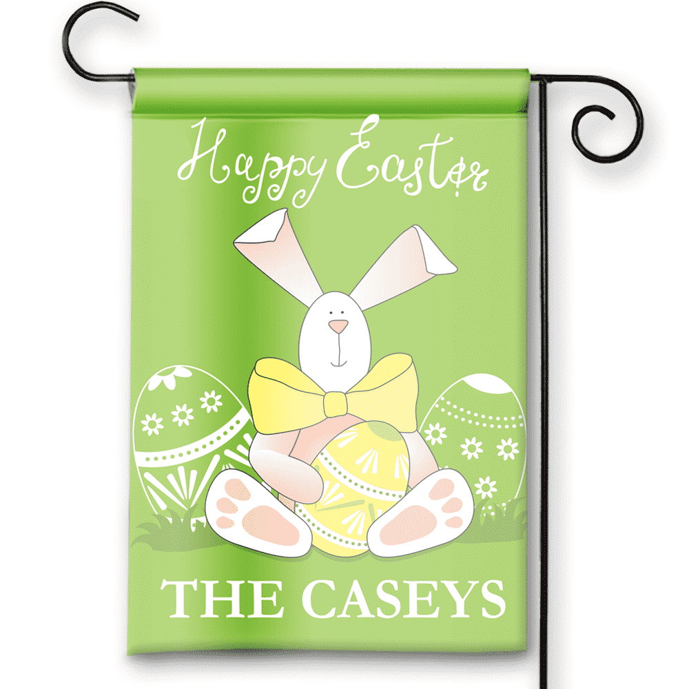 Easter Theme Pesonalized Easter Bunny Holiday Garden House Flag By Front  Porch Garden Flags