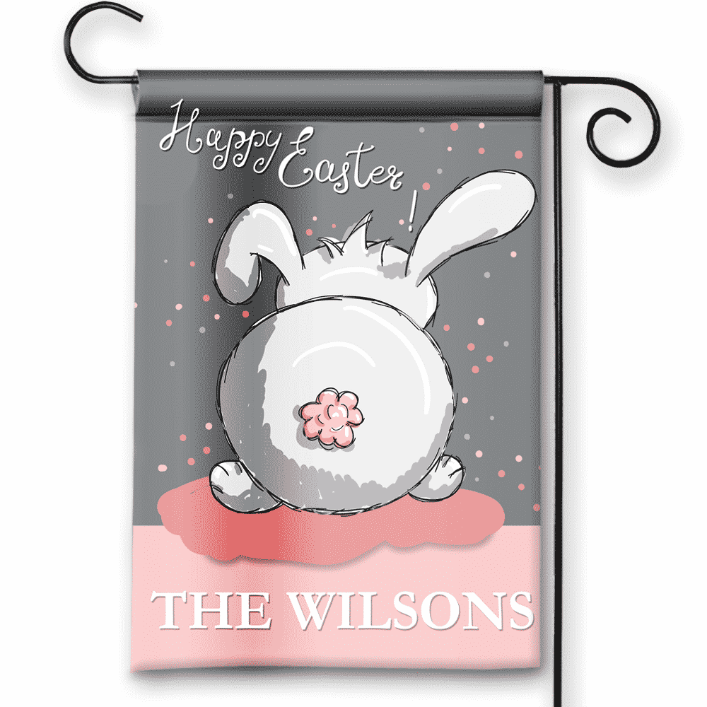 Delicieux Easter Theme Pesonalized Easter Bunny Holiday Garden House Flag By Front  Porch Garden Flags