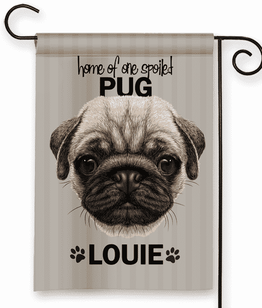 Sgf 00501 Pug Personalized Dog Breed Pet Lover Custom Garden House Flag By  Front Porch