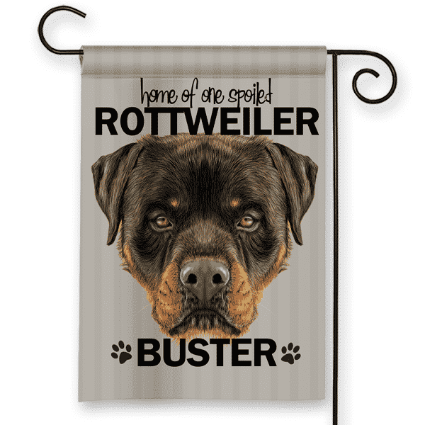Sgf 00504 Rottweiler Personalized Dog Breed Pet Lover Custom Garden House  Flag By Front Porch
