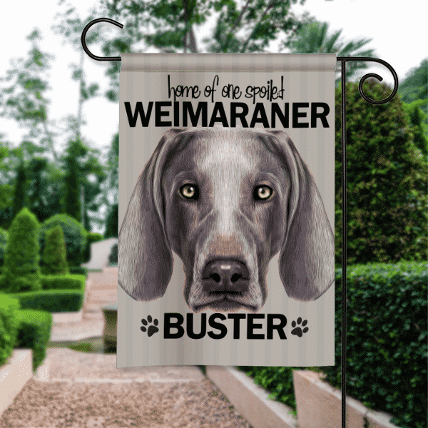 Sgf 00505 Weimaraner Personalized Dog Breed Pet Lover Custom Garden House  Flag By Front Porch