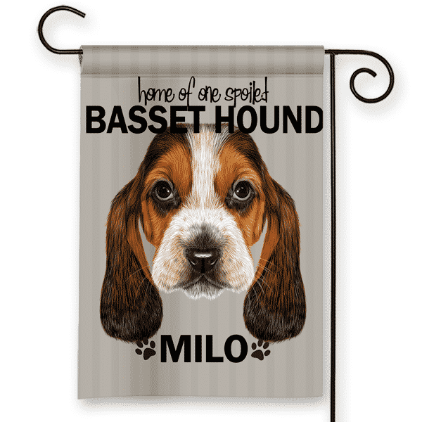 Sgf 00506 Bassett Hound Personalized Dog Breed Pet Lover Custom Garden  House Flag By Front