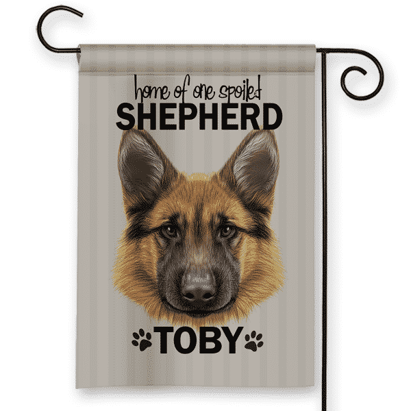 Bon Sgf 00508 German Shepherd Personalized Dog Breed Pet Lover Custom Garden  House Flag By Front