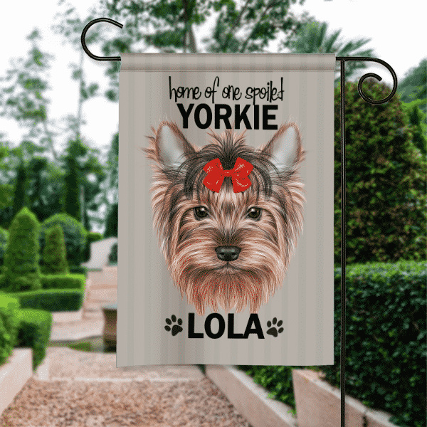 Sgf 00511 Yorkie Yorkshire Terrier Personalized Dog Breed Pet Lover Custom  Garden House Flag By