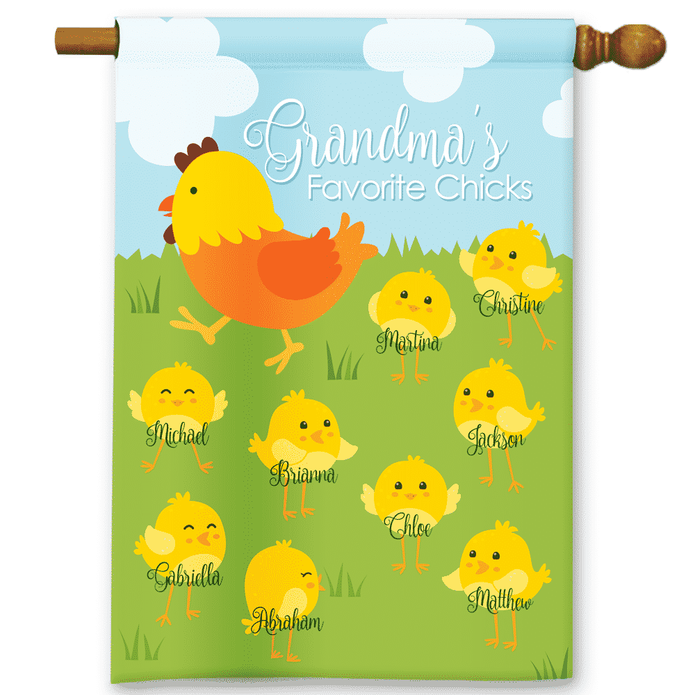 Grandma\'s Favorite Spring Chicks Personalized Easter Holiday Garden ...