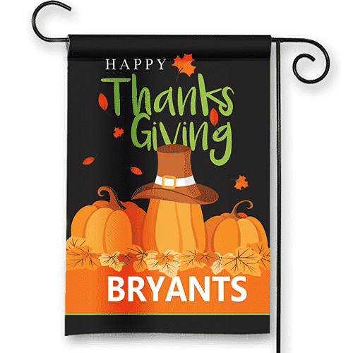 Sgf 00570 Happy Thanksgiving Pumpkin Patch Welcome Custom Personalized Garden  House Flag By Front Porch